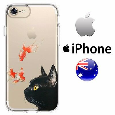 AU15.50 • Buy Case Cover Silicone Black Cat Kitten Goldfish Cute Pet Rivalry Water Paint Abstr