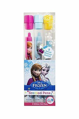 Disney Frozen Scented Glitter Gel Pens - Marshmallow, Rock Candy & Sugar Plum • 5.99£