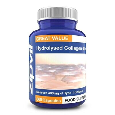 £7.47 • Buy Hydrolysed Collagen 400mg - Collagen Powder Capsules With Vitamin C, Normal S...