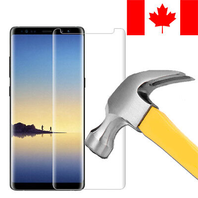 $ CDN7.99 • Buy Full 3d Curved Clear Tempered Glass Screen Protector For Samsung Galaxy Note 8