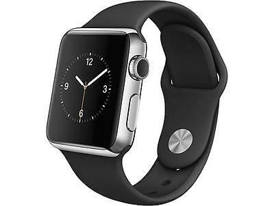 $ CDN326.81 • Buy Apple Watch 38mm Stainless Steel Case And Black Sport Band MJ2Y2LL/A A-BX
