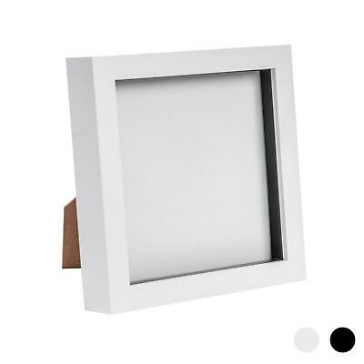 £8.49 • Buy Box Picture Frame Deep 3D Photo Display 6x6 Inch Square Standing Hanging White