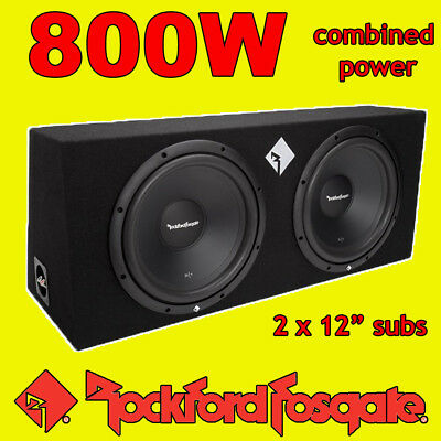 Rockford Fosgate Twin 12  Inch 800w Car Audio Subwoofers Driver Subs Bass Box • 199.99£