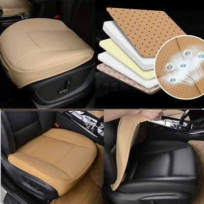 $ CDN41.56 • Buy 1x Universal Beige PU Leather Deluxe Car Front Chair Cover SUV Seat Cushion Pad