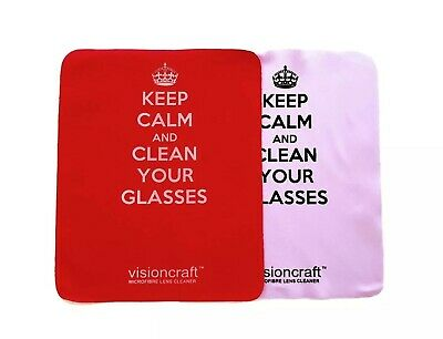 HIGH QUALITY MICROFIBRE CLOTH Wipes For Spectacles, Glasses, Camera - KEEP CALM • 2.99£
