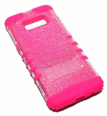 $ CDN13.26 • Buy For Samsung Galaxy S8 - Transparent Clear Glitter Pink Rubber Skin Case Cover