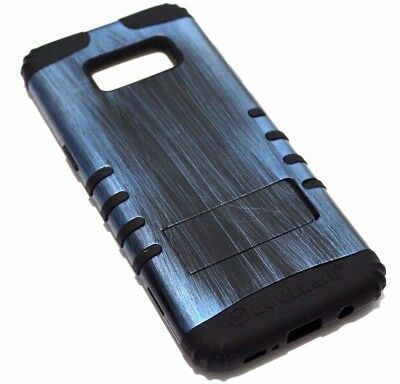 AU12.12 • Buy For Samsung Galaxy S8+ PLUS - Blue Wood Design Black Rubber Hybrid Case Cover