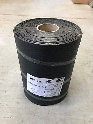 £12.90 • Buy DPC Damp Proof Course Membrane 225mm X 30mtr Roll For Brick Block Work