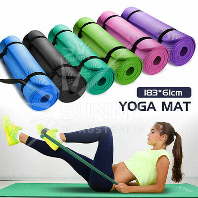 AU32.90 • Buy VIVA 15MM Thick Yoga Mat Pad Nonslip Fitness Pilate Exercise Gym 7 Colours