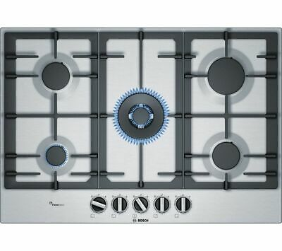 BOSCH Serie 6 PCQ7A5B90 Gas Hob - Stainless Steel - Currys • 471£