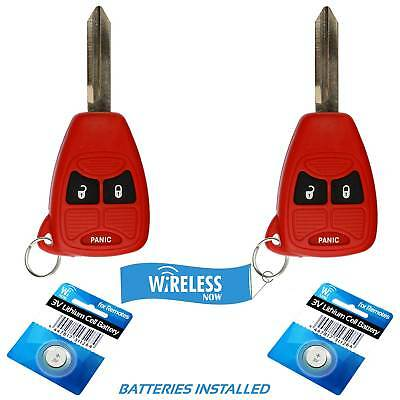 $14.45 • Buy 2 Car Key Fob Keyless Entry Remote Red For 2005 2006 2007 Dodge Magnum