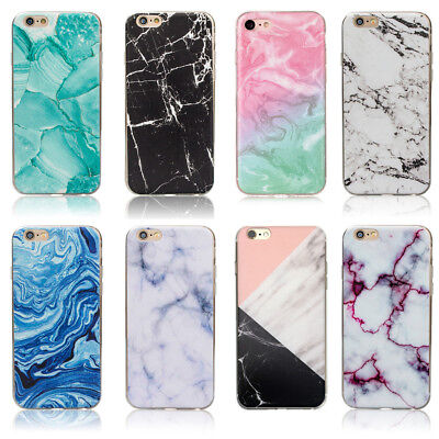 AU7.75 • Buy Marble Rock Pattern Gel Silicone Case Cover For Apple IPhone 5S SE 6S 7 8 Plus X