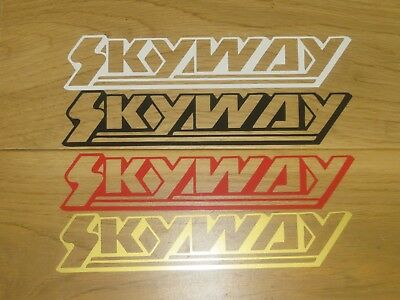 £4.99 • Buy 2 Skyway BMX Stickers Cycling Custom Sizes Colours Decals Frame Forks Wheel Bike
