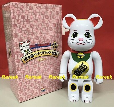 $168.99 • Buy Medicom 2017 Be@rbrick Skytree 400% Lucky Cat Neko White Blessing Bearbrick 1pc