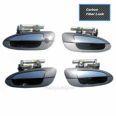 $61.80 • Buy For 02-06 Nissan Altima UPGRADED Outside Door Handle Set Lid Racing Fiber Carbon