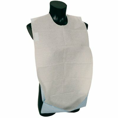 £11.25 • Buy Disposable Adult Bibs With Pocket, Self Adhesive Clothing Dining Protector - 100