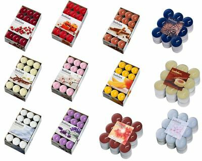 Scented / Plain Wax Tea Lights T Light Small Candles - Choose From 13 Fragrances • 4.99£