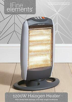 £19.99 • Buy  1200W And 800  Portable Home & Office Electric Oscillating Halogen Heater
