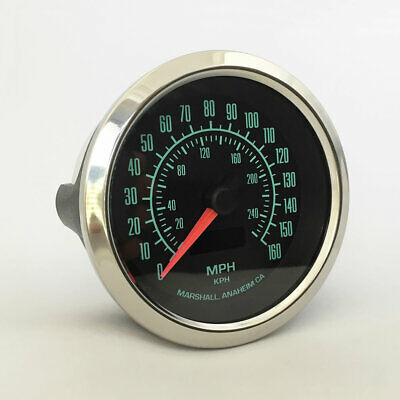 $159 • Buy C2 60s Muscle 3-3/8  Electronic Speedometer, 2952SS, Stainless Bezel