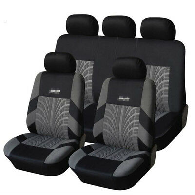 $ CDN66.90 • Buy Embroidery Full Car Seat Covers Set Universal Seat Protector Tire Track Feature