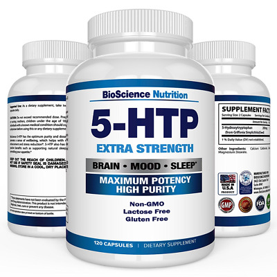 AU35.66 • Buy 5-HTP 200 Mg Supplement - 120 Capsules - BioScience Nutrition