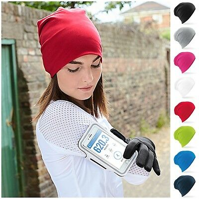 Jersey Stretch Beanie Hat Sports Running Cycling Soft Thin Warm Cotton Skull Cap • 8.45£