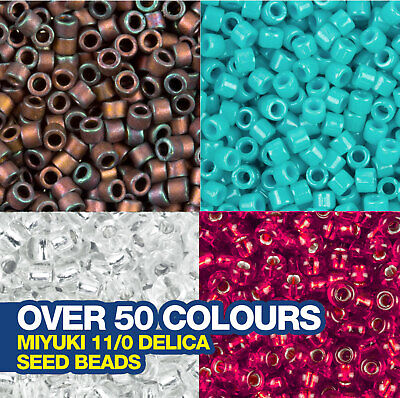 £3.84 • Buy Miyuki Delica Seed Beads 11/0 Approx 1,440 Beads. Choose From Over 50 Colours