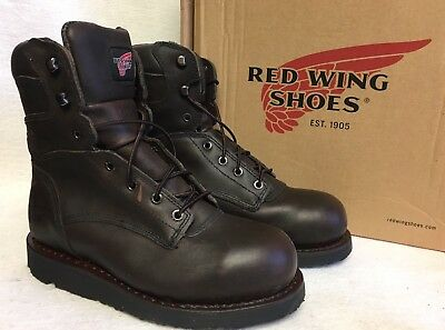 Red Wing 4474 8  Aluminum Toe Lace Up Work Boot Mens Paver Wedge Leather • 68.10£