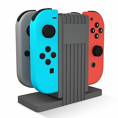 $9.99 • Buy Nintendo Switch TechMatte Joy-Con Charging Stand/Dock With Type C Cable (Gray)