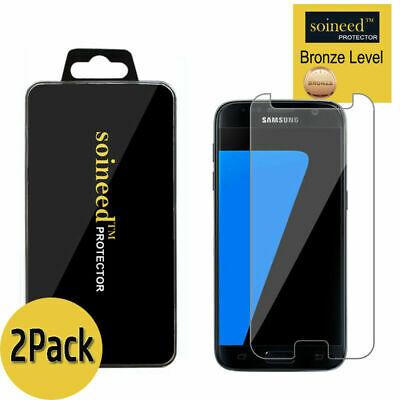 $ CDN8.42 • Buy [2-Pack]SOINEED Tempered Glass Screen Protector Film Cover For Samsung Galaxy S7
