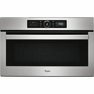 Whirlpool Absolute AMW730IX Built In Microwave & Grill Stainless Steel 2 Yr Gnte • 385£