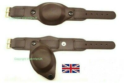 £15.99 • Buy Black Or Brown Army Military Style Leather Watch Strap With Cover 18MM 20MM