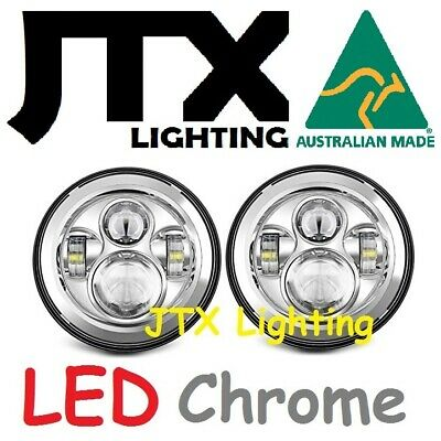 AU295 • Buy JTX 7 LED Headlights Plain Chrome No Halo Ford Bronco PickUp F100 F150 F250 F350