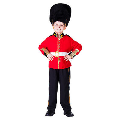 £19.95 • Buy Kids Boys Childrens Deluxe Royal Guard Palace Soldier Costume Uniform Age 3-4-6