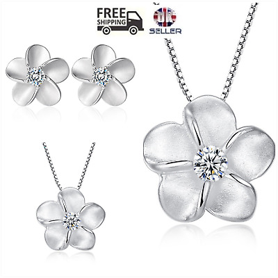 UK  Forget Me Not  Sterling Silver Jewellery Set Boxed • 9.99£