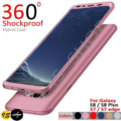 AU6.22 • Buy For Samsung Galaxy S8 S8+ S7 Edge Hybrid 360° Ultra Thin Case Protective Cover