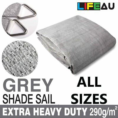 AU194.90 • Buy Extra Heavy Duty GREY Shade Sail 290gsm Rectangle Square Triangle