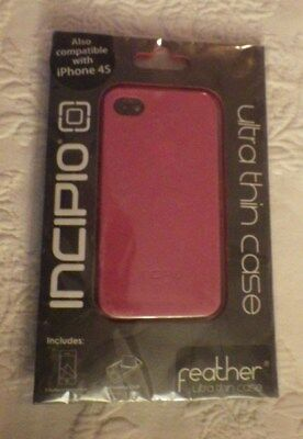 £9.38 • Buy Incipio Iphone 4 & 4S Feather Ultra Thin Pink Case W/2 Surface Protectors New