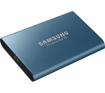 £76.99 • Buy SAMSUNG T5 External SSD Solid State Drive - 500 GB Blue - Currys