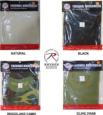 $15.99 • Buy  Thermal Knit Cold Weather SHIRT Long John Underwear Military TOP Rothco NEW