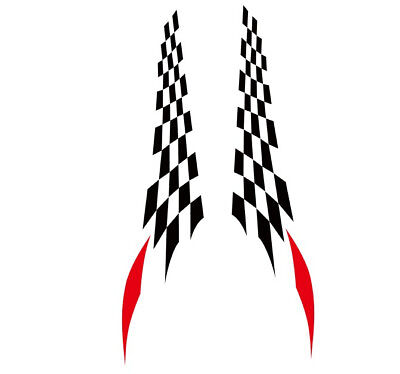 Pair Checker Flag Racing Decals Car Side Door Full Cover Stickers For TRD Letter • 16.10$