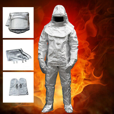 Thermal Radiation 1000 Degree Heat Resistant Aluminized Suit Fireproof Defense • 157.99$