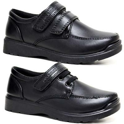 Boys Faux Leather School Shoes Kids Smart Dress Formal Back To School Shoes Size • 9.95£