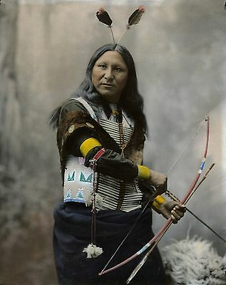 £7.99 • Buy Native American Indian Chief Holdng Bow & Arrow Poster Art Print
