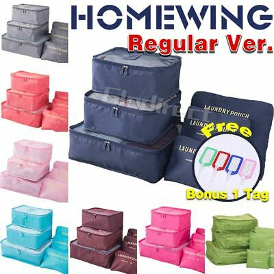 AU10.85 • Buy 6Pcs Packing Cubes Travel Pouch Luggage Organiser Clothes Suitcase Storage Bags