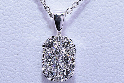 $425 • Buy Diamond Necklace With 14 Diamonds In 18K White Gold