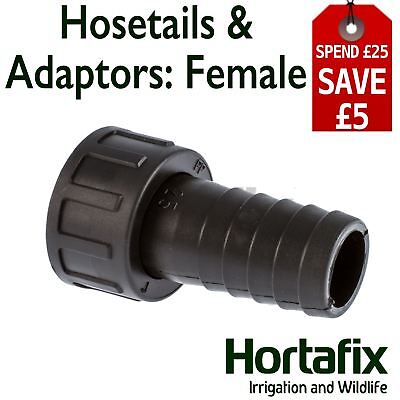 Hosetail Female Barbed For Irrigation, Ponds And Aquatics.  BSP Thread - Mm Tail • 2.95£