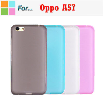 AU3.99 • Buy Soft TPU Gel TPU Shockproof Matte Frosted Case Cover For Oppo A57