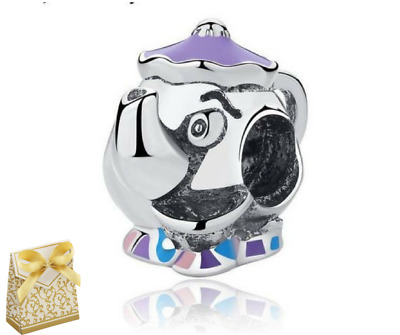 Genuine Disney, Mrs. Potts & Chip Charm BEAUTY AND THE BEAST BELLE +gift Box • 9.95£