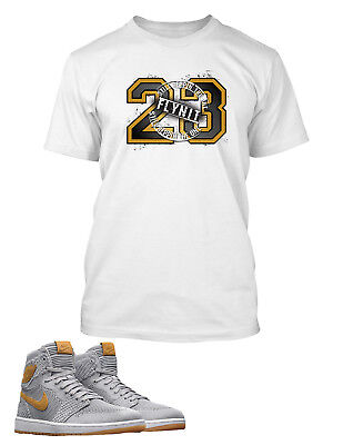 29bf6420fa49 23 Tee Shirt To Match Retro AIR JORDAN 1 FLYKNIT Short Sleeve Pro Club Tee •